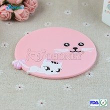 Heat resistant cup mat, silicone cup mat,FDA LFGB standard silicone cup coaster