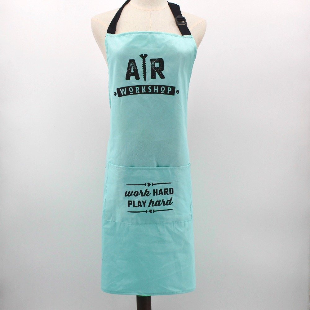 Wholesale promotional plain white aprons cotton