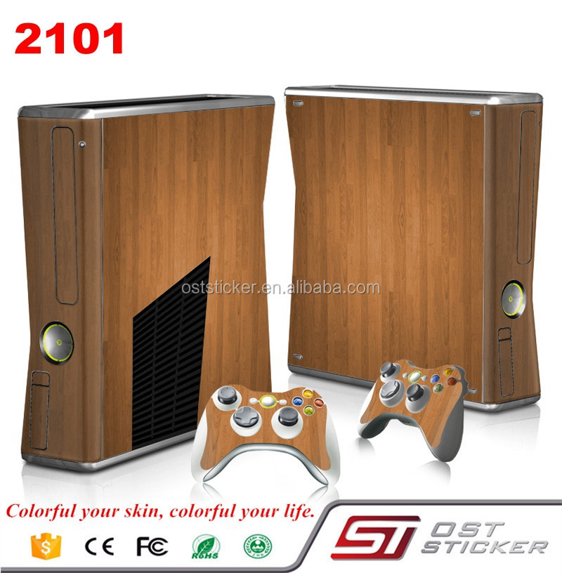 Factory Price Skin sticker for Xbox 360 slim Console and 2 Controllers vinyl decal