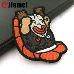 Customized cute logo embroidery designs patches for baby garments