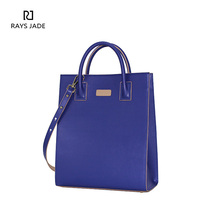 China supplier factory wholesale purple ladies handbag leather tote bag