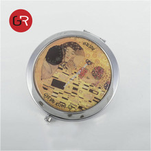 Promotional metal cosmetic mirrors,ladies pocket mirror,double sides compact mirror bathroom smart mirror