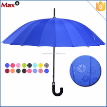 Large 24k bussiness straight colour changing rain umbrella