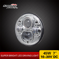 "2016 New 7 inch 45w Round Motor cycle Light 7""led Headlight rhd Head Lamp Jeep for Offroad Jeep Vehicles"