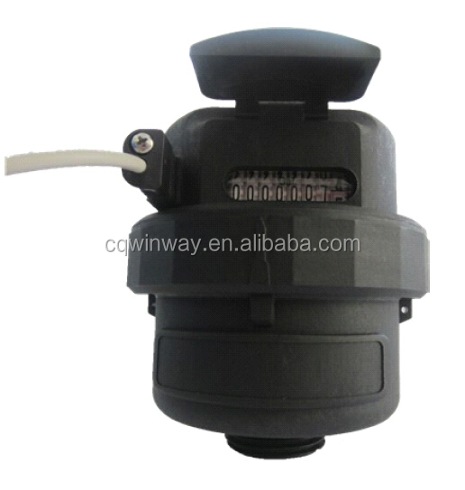 US gallon volumetric rotary piston water meter with pusle output