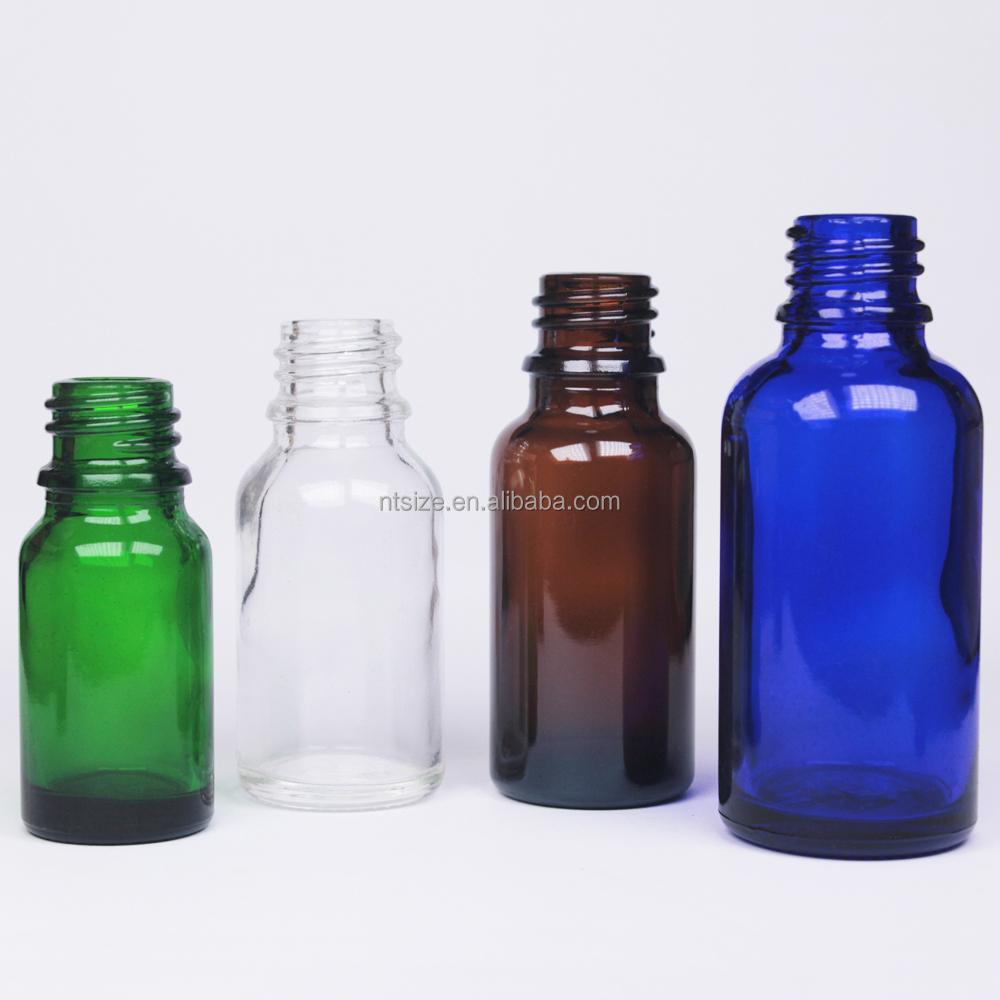 5ml 10ml 15ml 20ml 30ml 50ml 100ml Empty Glass Round Dropper Bottle For Essential Oil, DIN 18mm