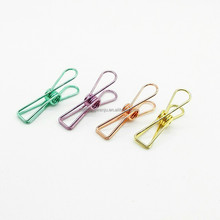 2017 popular paper clip in different color fish shaped for clip paper and file