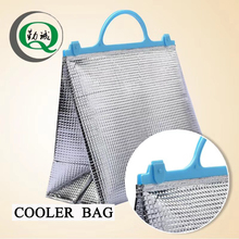 Customized aluminum foil ice cube thermal lunch cooler bag