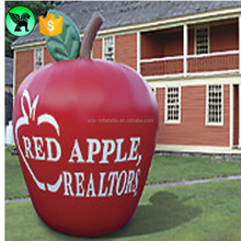 Custom size and logo replica fruit model inflatable , giant inflatable red apple for advertising ST548