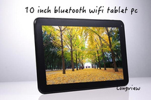 "10"" Android 4.4 KitKat quad core touch tablet MID 10inch with 1GB RAM 16GB flash bluetooth 2 cameras"