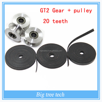GT2 Pulley 20Teeth Bore 3MM without wheel with GT2 belt Width 6MM Perlin