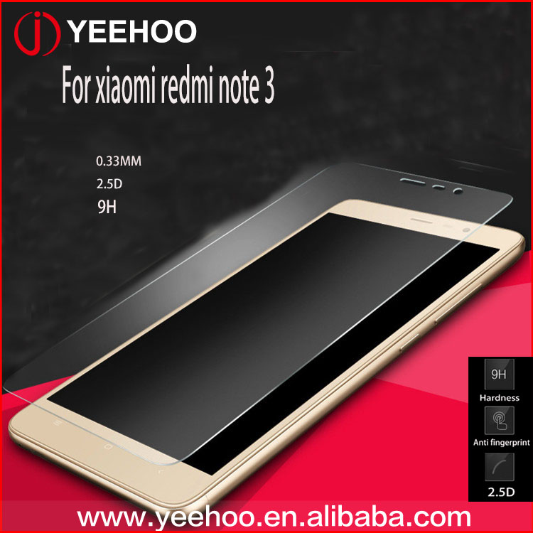 9H 2.5D premium mobile phone screen protector for xiaomi redmi note 3 tempered glass