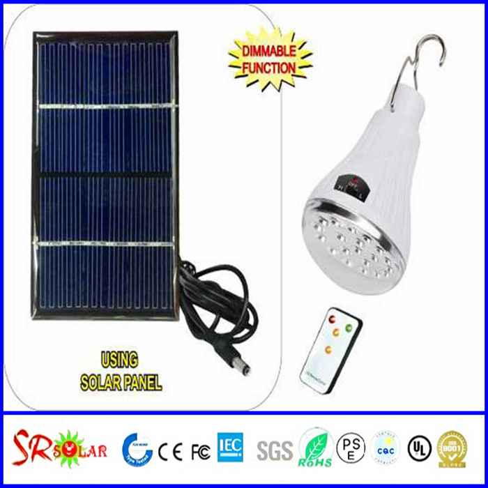 1.5v dc outdoor led lighting bulb e27 / dimmer remote controller / epoxy solar panel