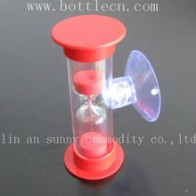 3 minutes plastic hourglass timer