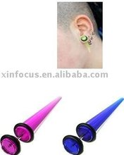 "UV ""Look"" Faux Straight Ear Taper/Stretcher Piercing"