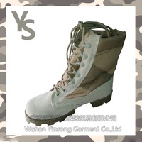 [Wuhan YinSong] Cheap high neck leather military army and police mens safety boots /shoes