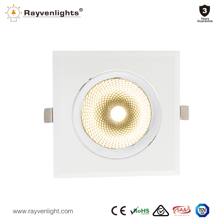 45w 60w high power triple ar111 recessed square led downlight
