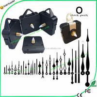 CE&RoHS quartz clock movement clockwork with plastic hanger wall clock parts
