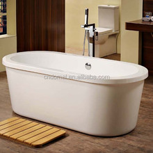 DM805 Shaoxing Domal acrylic Wholesale indoor free standing oval bathtub / Big sale stainless steel dog bathing tub