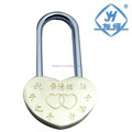 Zinc Alloy Wedding or Valentine's Day Heart Shaped Padlock