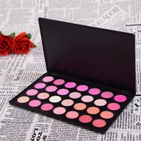 Free Shipping Wedding Cosmetic Professional Quality 28 Full Colors Blush Powder Blusher Bronzer Cheek Make Up Palette H28 V1064A