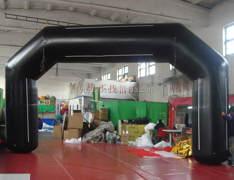 Rental black inflatable arch racing arch for sport