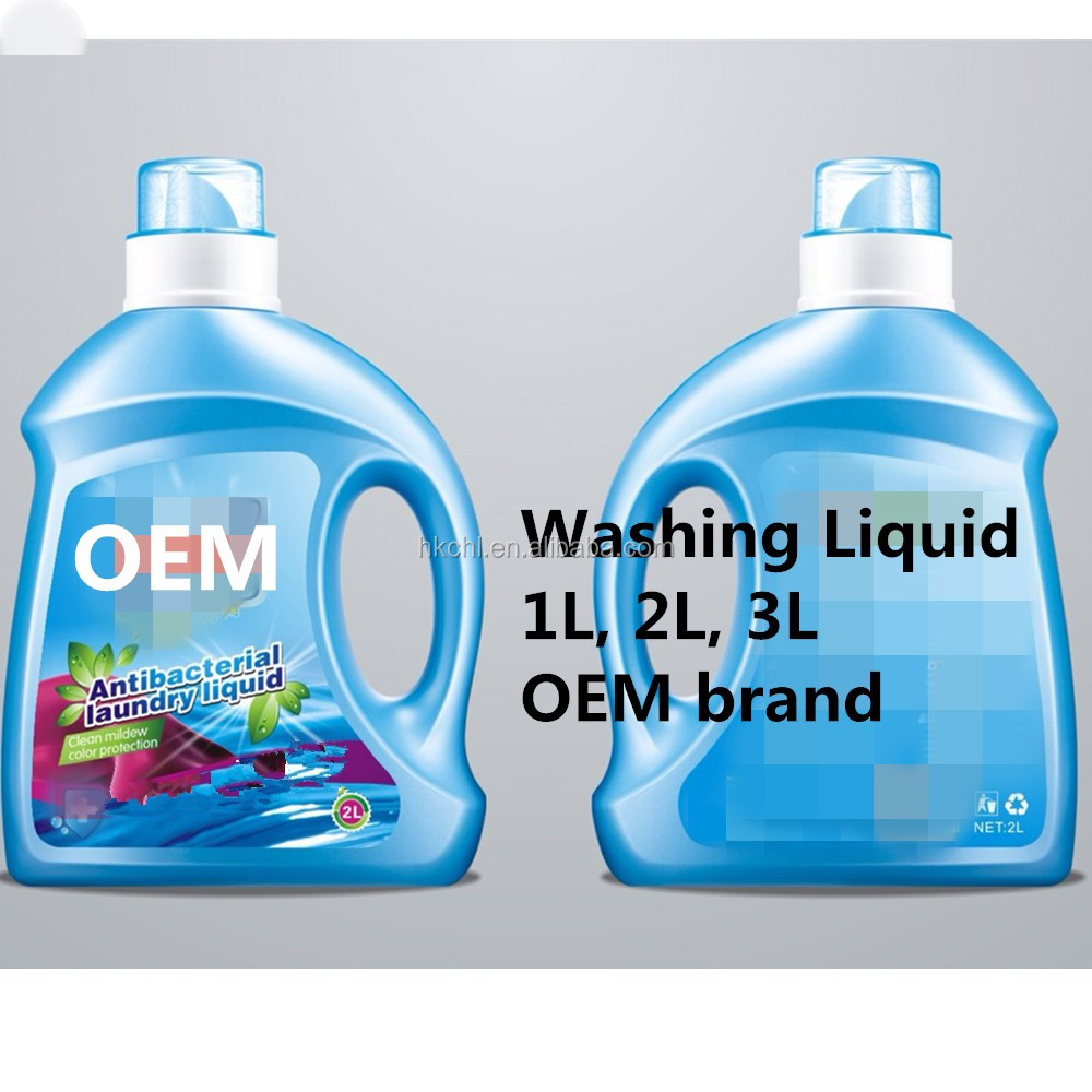 Concentrated 2L Washing Detergent Liquid, Laundry Washing Liquid, Blue color liquid