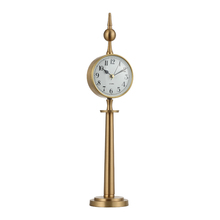 Cheap antique brass tower shaped numbers decor clock