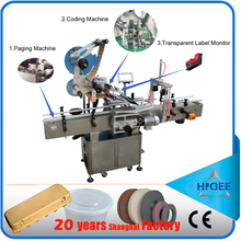 HIG Intelligent control automatic flat surface label applicator Scrach card labeling 20-200pcs per minute