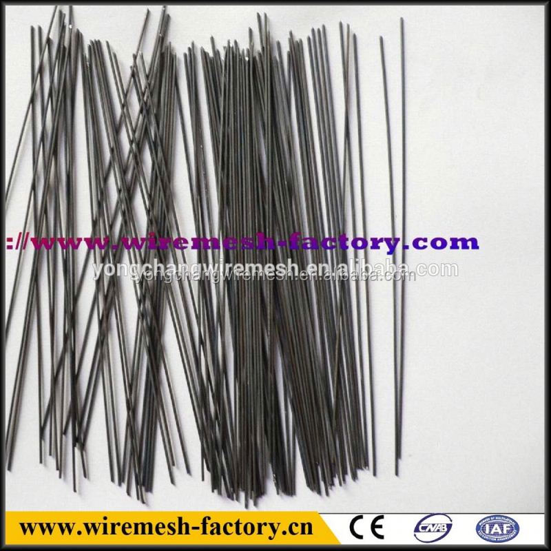 black galvanized stainless steel straight cut wire