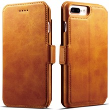 New design leather case for iphone 7 leather case,mobile phone accessories