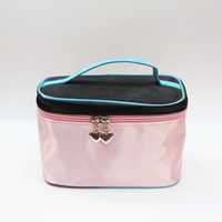 Mercerizing leather travel cosmetic bag cosmetic case