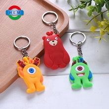 Wholesale rubber key chain, club soccer custom rubber 3D soft pvc keychain,T-shirt cloth pvc key ring