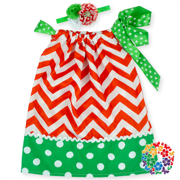 2015 stylish boutique baby girl 1 year old party chevron dress Christmas designs