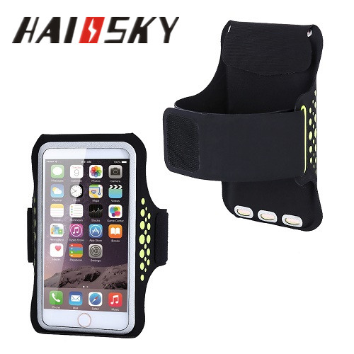 HAISSKY 2017 New patent design Lycra waterproof reflective sports armband running arm wallet with keyholder