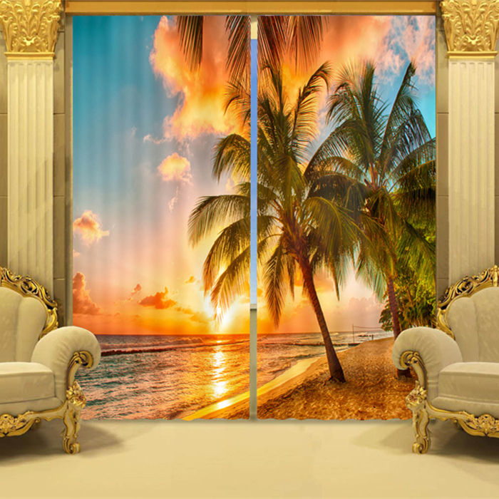 Home Textile 100% Polyester Blackout 3D Printed Door Air Wall Covering Window Curtain