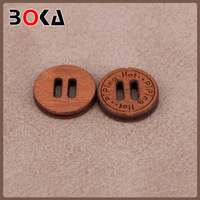 Fancy wooden button making machines with Engraved Logo for sofa decoration BK-BUT701