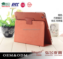 Organge Luxury Design PU Leather Book Case Cover for Apple iPad 2 3 4 5 6 Air 2 mini 1 2