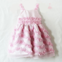 Kids/Children Dress for Wedding lovely flower dress pink
