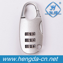 YH9916 Good quality Resettable 3 Digit Combination Luggage Padlocks