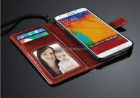 2014 PUDINI Accept OEM flip leather wallet flip case cover for samsung galaxy note3 neo