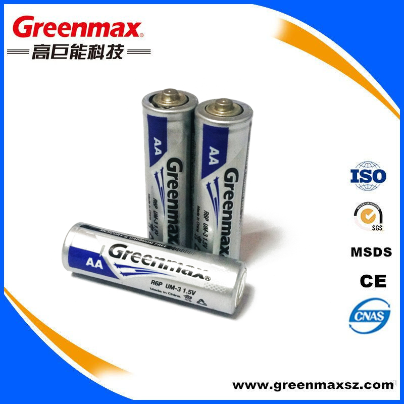 Family used free mercury r6p um3 aa dry battery