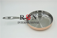 Cookware Stainless Steel Inside Aluminum Copper /Brass Coating Frying Pan