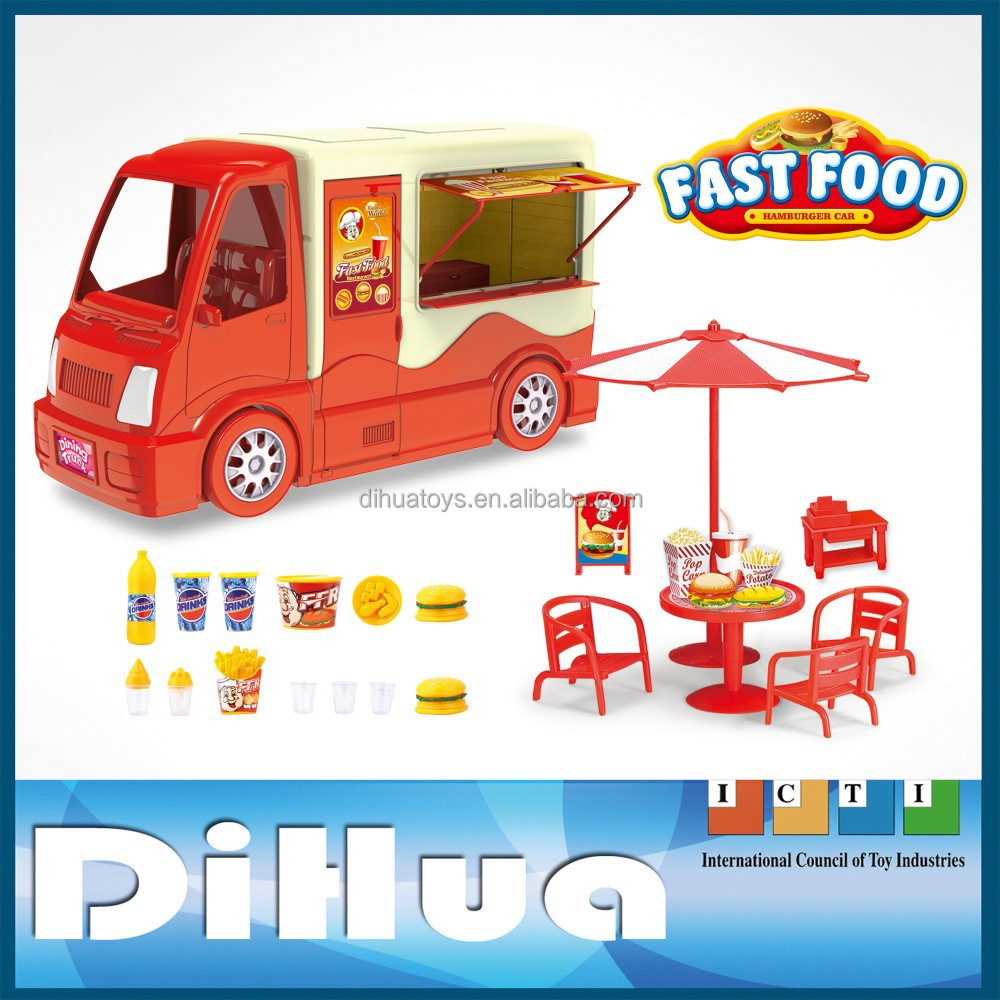 Kids Role Play Toy Set Fast Food Car