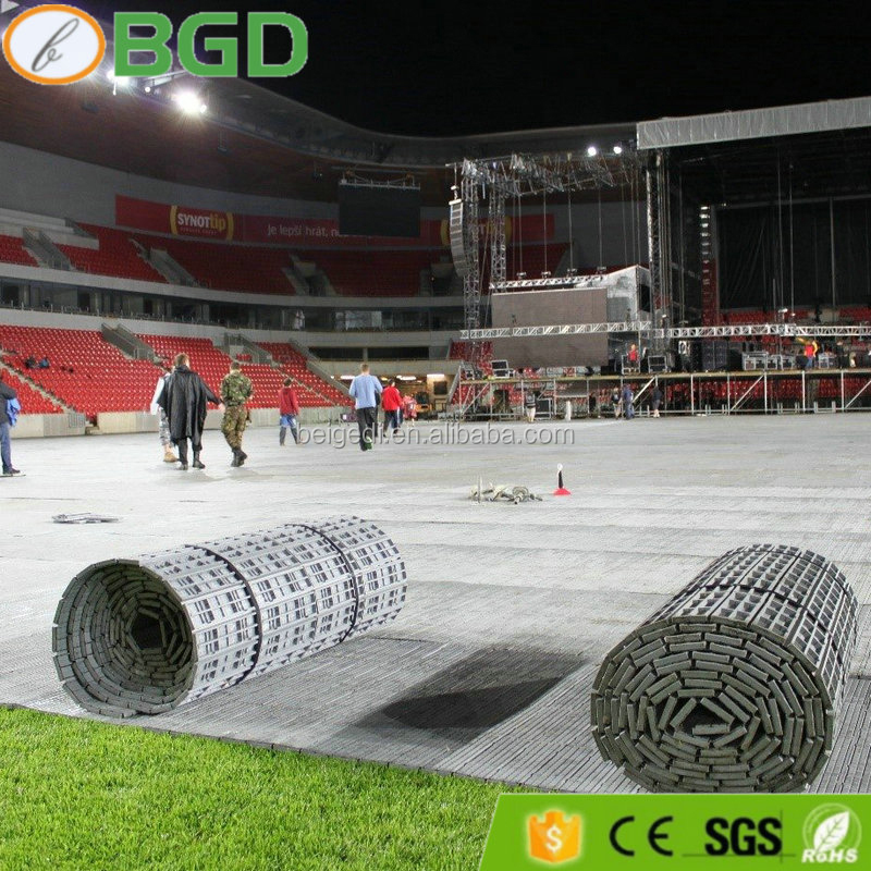 Portable multi use pp interlocking turf protection concert event <strong>flooring</strong>