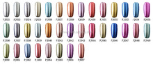 metallic uv color gel nail polish metal mirror soak off silver gel
