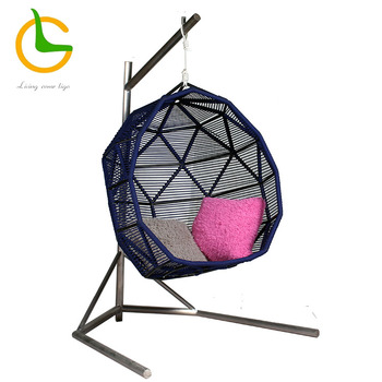 2019 best selling all weather customized deign garden decoration rope weaving swing egg chair