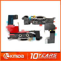 100% Original For IPhone 5S Dock Connector Charger Flex Cable Headphone Audio Jack Ribbon Black Charging Port