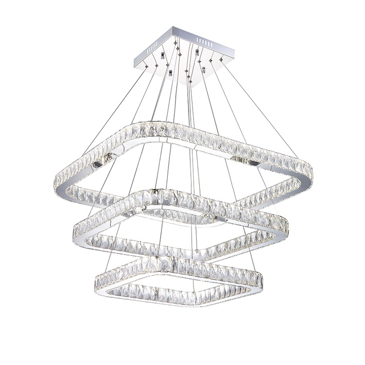 Bedroom Luster Restaurant LED Modern Stainless Steel 72W Pendant Lamp K9 LED Crystal Pendant <strong>Light</strong>
