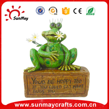 Resin garden decoration frog statues